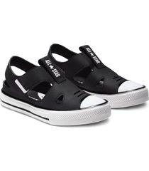 converse sandalias chuck taylor all star superplay black, white