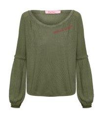 blusa feminina matignon - verde