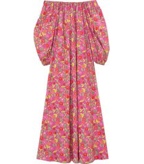 bobby cotton poplin dress in jellypop pink