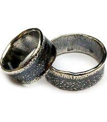 srebrne obrączki - komplet