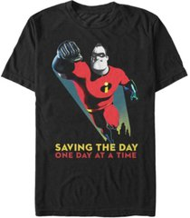 disney pixar men's incredibles saving the day, short sleeve t-shirt
