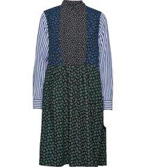 grace block print dress dresses everyday dresses svart wood wood