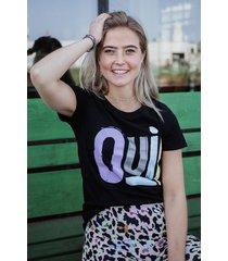 colourful rebel shirt / top zwart 8392
