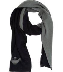 emporio armani swallow plimsoll wool scarf