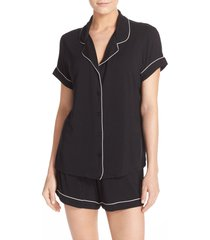 women's nordstrom lingerie moonlight short pajamas, size x-small - black