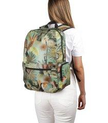 morral plegable estampado tropical citybags multicolor