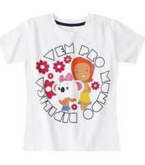 camiseta mundo ripilica - 11400087i - branco - menina - dafiti