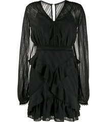 three floor mirrored escape mini dress - black