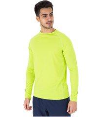 camiseta manga longa com proteção solar uv 50+ oxer new - masculina - verde claro