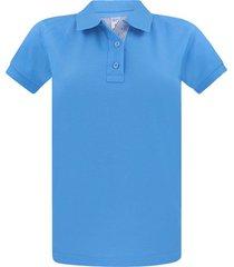 camiseta tipo polo para mujer azul claro hamer fondo entero