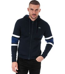 mens stripped sleeves full zip sweatshirt