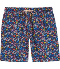 men's bugatchi fish print swim trunks