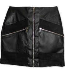 bar iii faux leather mini skirt, created for macy's