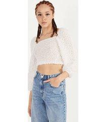 chiffon blouse met blote schouders