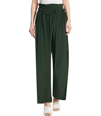 solange smocked-waist silk pants