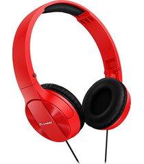 audífonos diadema pioneer mj503 rojo
