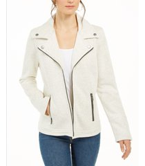 style & co knit moto jacket, created for macy's