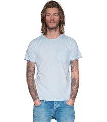 victim t-shirt met korte mouwen licht blauw