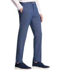 paisley & gray slim fit suit separates dress pants blue chambray