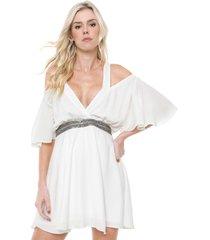 vestido ciganinha lança perfume curto pedraria branco