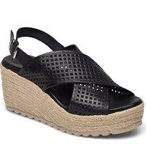 biadaneen per. sandal sandalette med klack espadrilles beige bianco