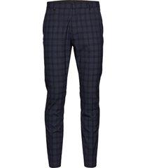 slhslim-mylologan navy check trs b noos kostuumbroek formele broek blauw selected homme