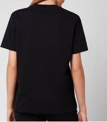 kenzo women's loose t-shirt embossed tiger - black - l