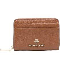 michael michael kors jet set wallet in brown leather