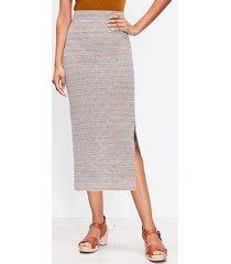loft striped slit column pull on skirt