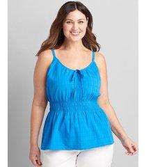 lane bryant women's shirred-waist cami 20 french blue