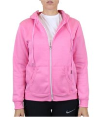 galaxy by harvic women's fleece-lined zip hoodie