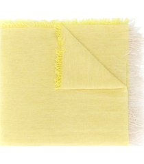 forte forte long draped scarf - yellow