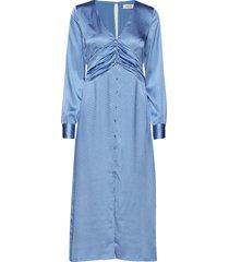 reggie dress knälång klänning blå modström