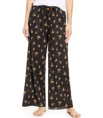 women's bp. faye wide leg pajama pants, size x-large - black