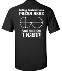 riding instructions press here and hold on tight motorcycle men's tee shirt 912