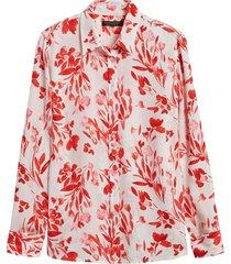 blusa dillon prints rojo banana republic