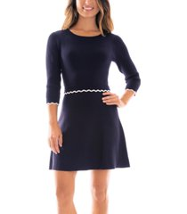 bcx juniors' scalloped-trim sweater dress
