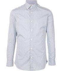 kent & curwen thin stripes shirt - blue