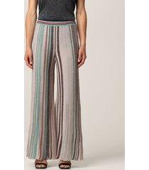 missoni pants wide missoni pants in lurex striped knit