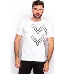 camiseta t shirt algodão teodoro masculino manga curta slim - masculino