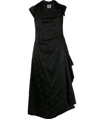 valentino pre-owned 1990s snowflake print draped dress - black