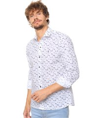 camisa blanca laundry ml claus slim estampada vte.5