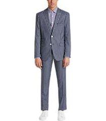 paisley & gray slim fit suit separates coat navy denim stripe
