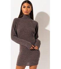 akira preppy status mini sweater dress