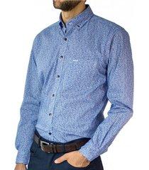 camisa trevira estampada button down spandex regular fit mcgregor
