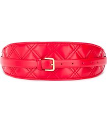philosophy di lorenzo serafini quilted buckle waist belt - red