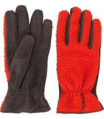 dell'oglio paneled gloves - red