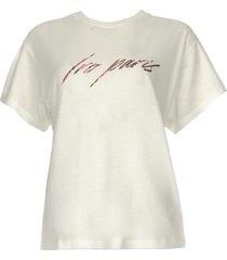 t-shirt met opdruk lyka  wit