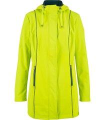parka in softshell con cuciture a contrasto (verde) - bpc bonprix collection