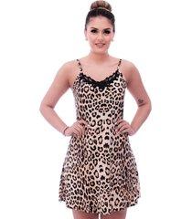 f46b61e1461846 camisola ficalinda de alça fina estampa animal print de onça com renda  guipir preta no decote